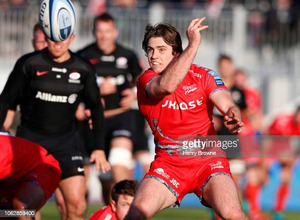 James O'Connor of Sale Sharks during the Gallagher Premiership Rugby match between Saracens and Sale Sharks at Allianz Park on November 17 2018 in...