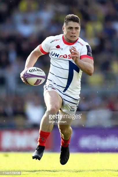 James O'Connor of Sale Sharks in action during the Challenge Cup Semi Final match between La Rochelle and Sale Sharks at on April 20 2019 in La...