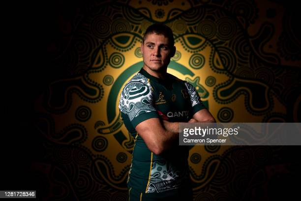 James O'Connor of the Wallabies poses during the Australian Wallabies 2020 First Nations Jersey portrait session on October 22 2020 in the Hunter...