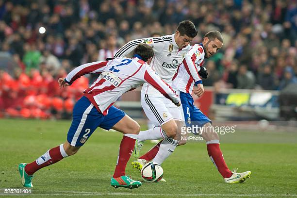 James of Real Madrid during the Copa del Rey Round of 16 First Leg match between Club Atletico de Madrid and Real Madrid at Vicente Calderon Stadium...