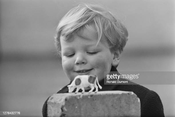 James Ogilvy, the son of Princess Alexandra of Kent and Sir Angus Ogilvy, playing in Richmond Park, London, 1st March 1966.