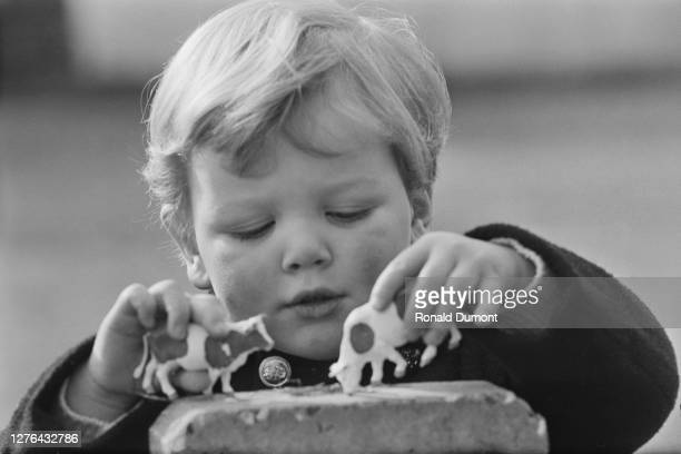 James Ogilvy the son of Princess Alexandra of Kent and Sir Angus Ogilvy playing in Richmond Park London 1st March 1966