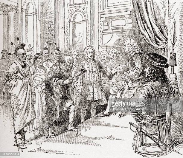 James Oglethorpe visiting Britain in 1735 with a delegation of Cherokee to meet King George II and his family at Kensington Palace From The History...