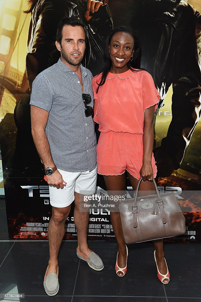 James O'Keefe (L) and Beverley Knight attend the Fan Footage Event of 'Terminator Genisys' at Vue Westfield on June 17, 2015 in London, England.