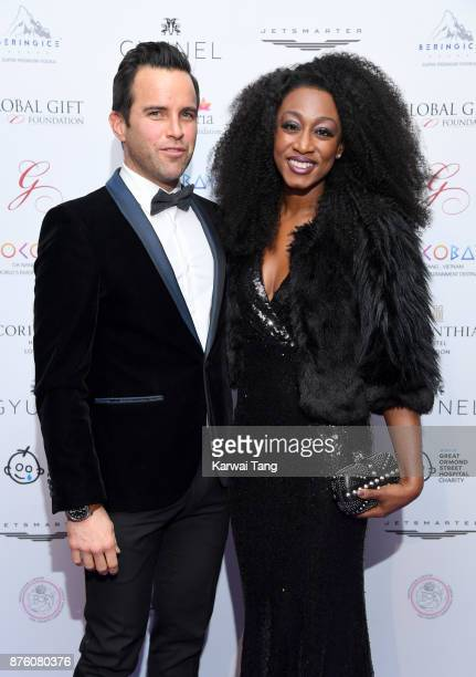 James O'Keefe and Beverley Knight attend The Global Gift gala held at the Corinthia Hotel on November 18 2017 in London England