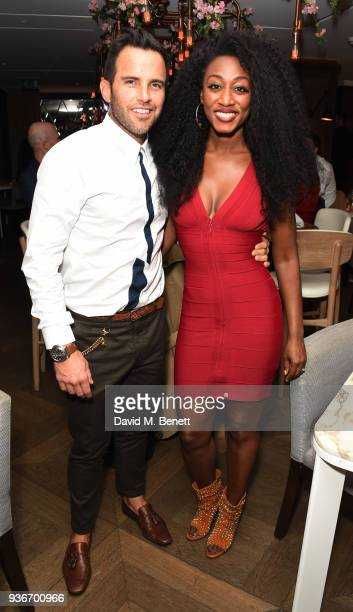 James O'Keefe and Beverley Knight attends Beverley Knight's birthday party at The May Fair Hotel on March 22 2018 in London England