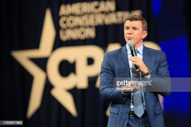 James O'Keefe, founder of Project Veritas, speaks during the Conservative Political Action Conference in Dallas, Texas, U.S., on Friday, July 9,...