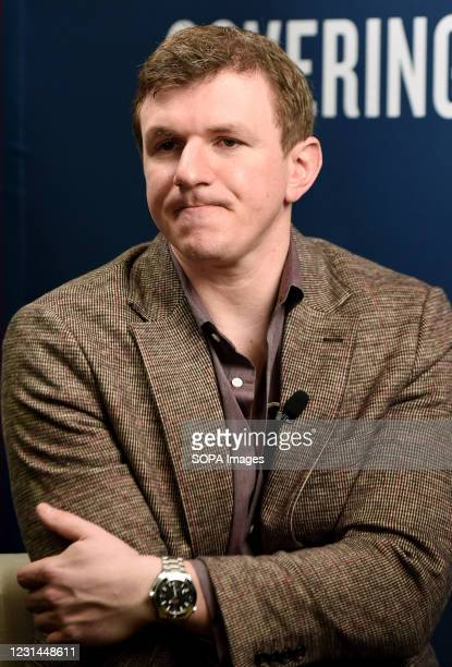 James OKeefe, founder of Project Veritas, waits to be interviewed at the 2021 Conservative Political Action Conference at the Hyatt Regency. Former...