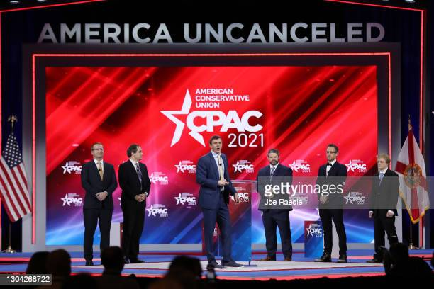 James O'Keefe , President, Project Veritas, addresses the Conservative Political Action Conference being held in the Hyatt Regency on February 26,...