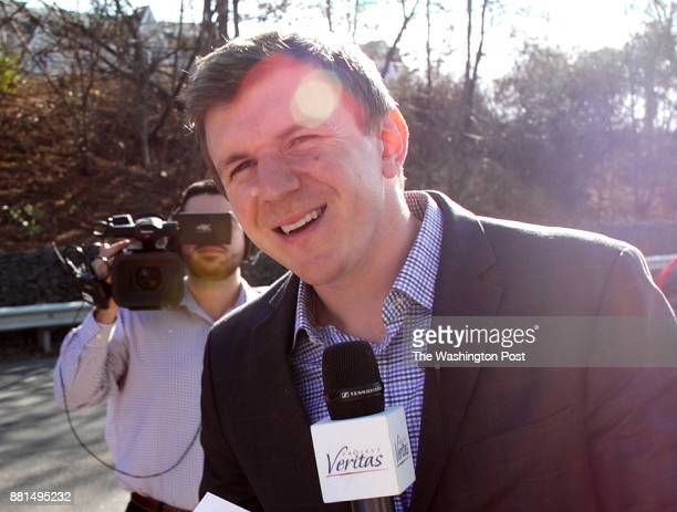 James OKeefe, the founder of Project Veritas, dodges questions about a woman who falsely claimed in interviews with The Washington Post via Getty...