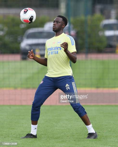 James Olayinka of Arsenal during the Arsenal U23 training session at London Colney on August 17, 2020 in St Albans, England.