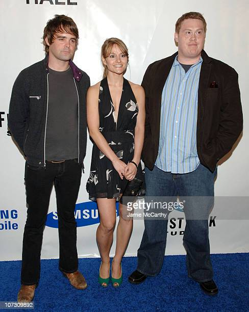 James Oliver Natalie Smyka and Jamie Benge during Samsung and First Look Studios Presents Across The Hall Premiere Screening and Party at Samsung...