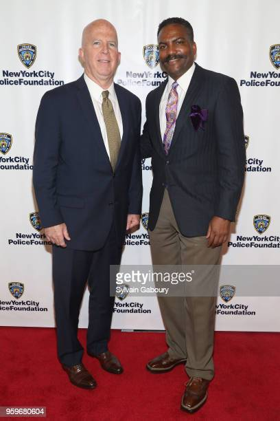 James O'Neill and Anthony Whitaker attend the New York City Police Foundation 2018 Gala on May 17 2018 in New York City