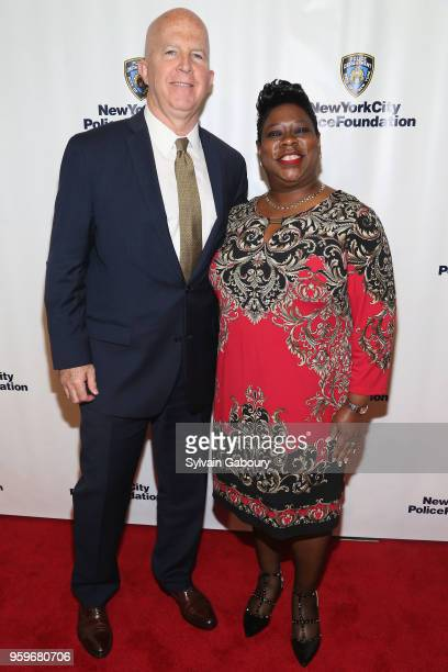 James O'Neill and Darcel Clark attend the New York City Police Foundation 2018 Gala on May 17 2018 in New York City
