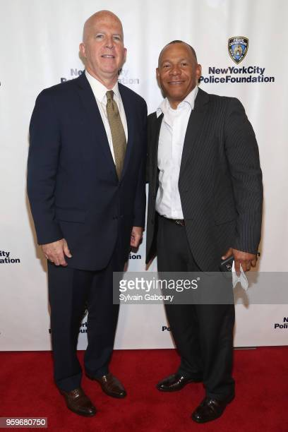 James O'Neill and Iles Reyes attend the New York City Police Foundation 2018 Gala on May 17 2018 in New York City