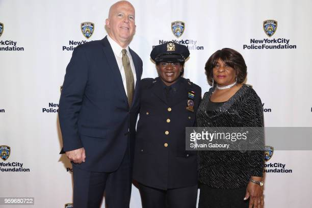 James O'Neill Tanya Duhaney and Delores Duhaney attend the New York City Police Foundation 2018 Gala on May 17 2018 in New York City