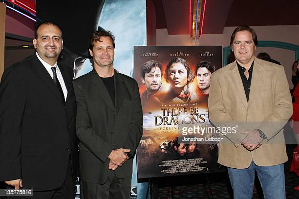 James Ordonez Dean Hamilton and Jim Townsend attend the There Be Dragons Secret Of Fashion Los Angeles Screening on December 7 2011 in Marina del Rey...