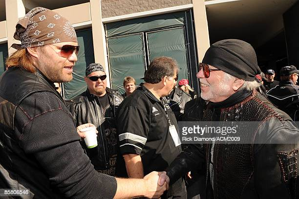ACCESS* James Otto and William G Davidson participate in the Academy Of Country Music Chairman's Ride on April 4 2009 at MGM Grand Hotel/Casino on...