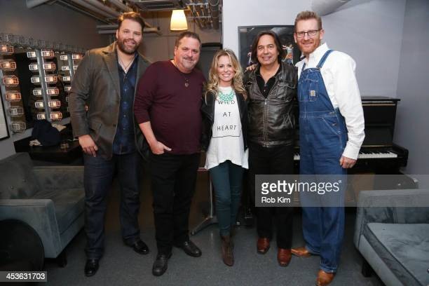 James Otto Bob DiPiero Deana Carter James Slater and Rory Feek backstage during the 2013 CMA Songwriters Series at Joe's Pub on December 4 2013 in...