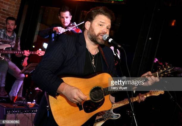 James Otto performs onstage at the afterparty for the16th Annual Waiting for Wishes Celebrity Dinner Hosted by Kevin Carter Jay DeMarcus on April 18...