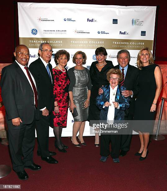 James P Comer Former Governor Mario Cuomo Madeline Cuomo Laurie M Tisch Susan Fuhrman Doctor Ruth Westheimer Tony Bennett and Susan Benedetto attend...