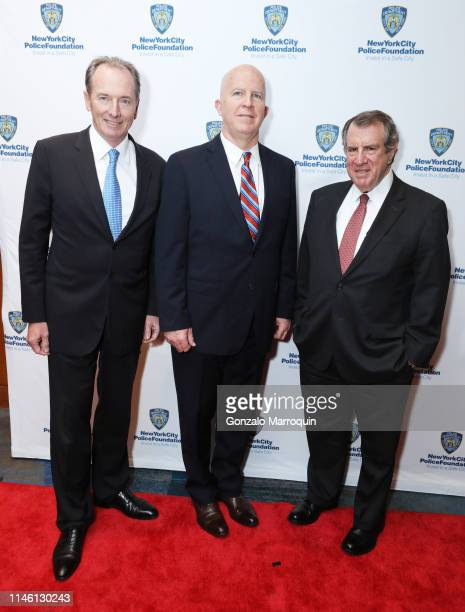 James P Gorman New York City Police Commissioner James P O'Neill and Andrew Tisch attend the 2019 New York City Police Foundation Gala at New York...