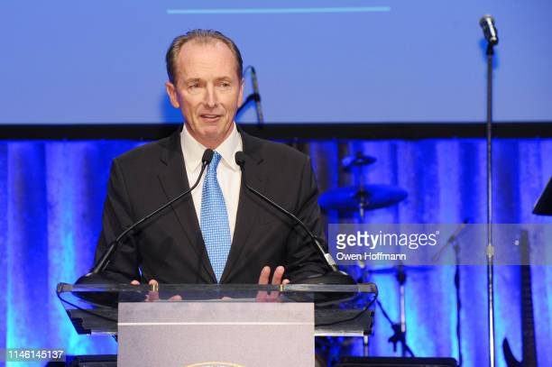 James P Gorman speaks onstage during the 2019 New York City Police Foundation Gala at New York Hilton Midtown on April 30 2019 in New York City