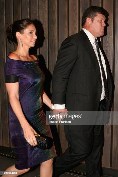 James Packer and Erica Packer attend the opening party of the Crown Metropol hotel on April 21 2010 in Melbourne Australia