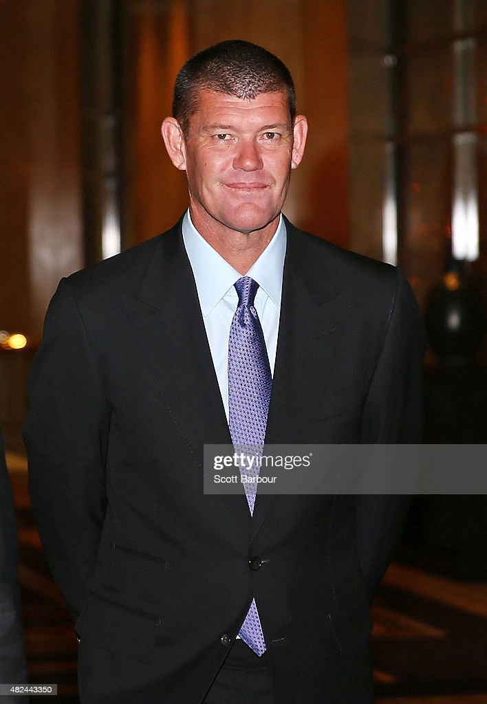 James Packer, Crown Resorts Chairman arrives as he launches Crown Resorts' second Reconciliation Action Plan on July 31, 2015 in Melbourne, Australia. After achieving all targets set in the first plan, Crown aims to place Indigenous employees into leadership programs to help them move into senior management roles.
