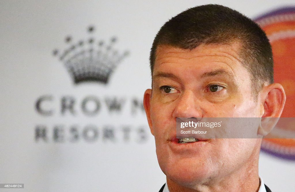 James Packer, Crown Resorts Chairman speaks as he launches Crown Resorts' second Reconciliation Action Plan on July 31, 2015 in Melbourne, Australia. After achieving all targets set in the first plan, Crown aims to place Indigenous employees into leadership programs to help them move into senior management roles.