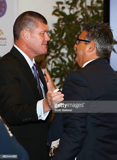 James Packer Crown Resorts Chairman speaks with Andrew Demetriou Director of Crown Resorts he launches Crown Resorts' second Reconciliation Action...