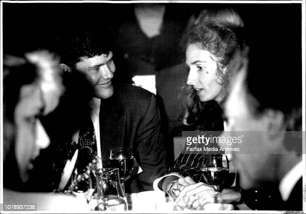 James Packer Son of Kerry seated nest to wife of P M Annita Keating October 20 1992