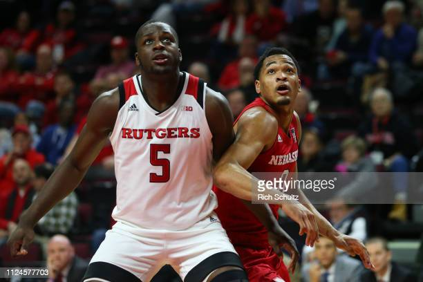 James Palmer Jr #0 of the Nebraska Cornhuskers in action against Eugene Omoruyi of the Rutgers Scarlet Knights during a game at Rutgers Athletic...