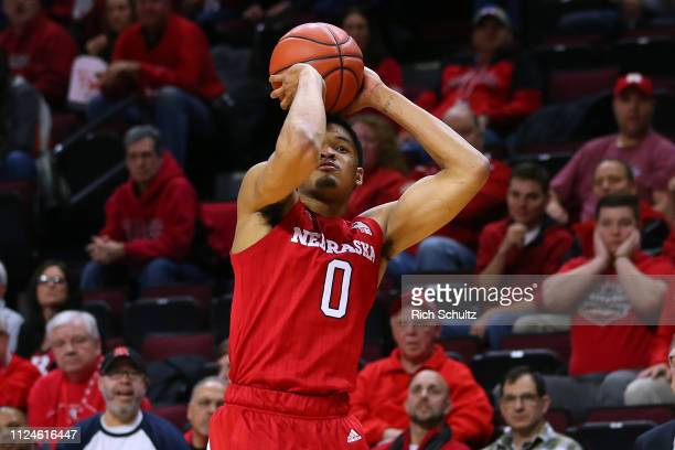 James Palmer Jr #0 of the Nebraska Cornhuskers in action against the Rutgers Scarlet Knights during a game at Rutgers Athletic Center on January 21...