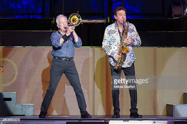 James Pankow and Walter Parazaider of Chicago perform at Concord Pavilion on July 15 2015 in Concord California