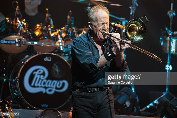 James Pankow of the band Chicago performs onstage at ACL Live on May 27 2016 in Austin Texas