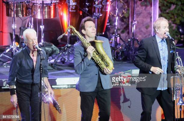 James Pankow Ray Hermann and Lee Loughnane of Chicago perform at The Mountain Winery on August 30 2017 in Saratoga California