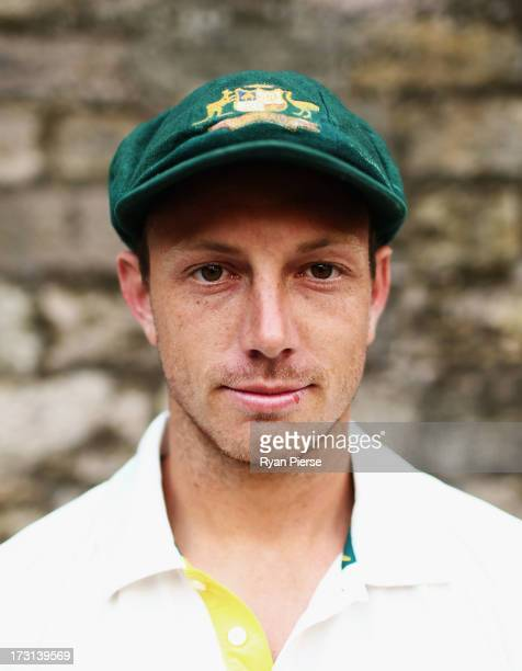 James Pattinson of Australia poses during an Australian Fast Bowlers Portrait Session at Nottingham Castle on July 8 2013 in Nottingham England
