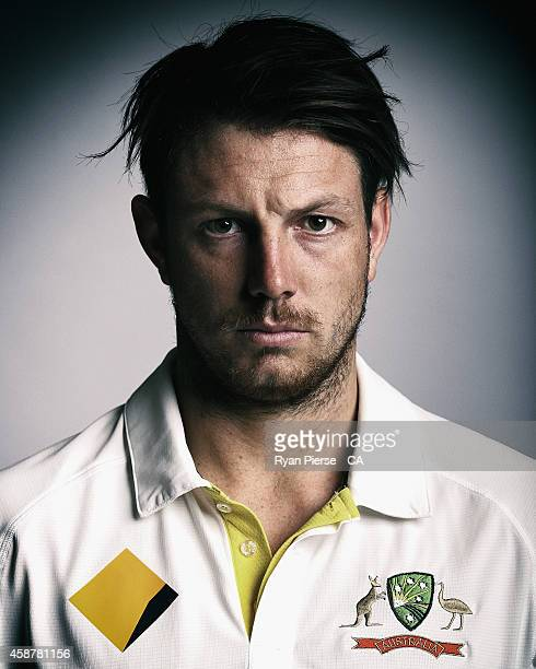 James Pattinson of Australia poses during an Australian Test Team Portrait Session on August 11 2014 in Sydney Australia