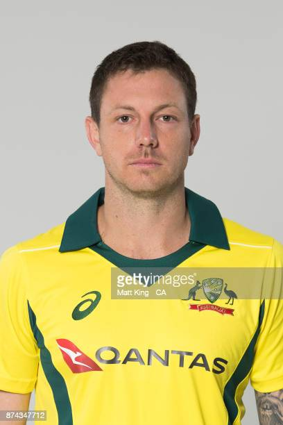 James Pattinson poses during the Australia One Day International Team Headshots Session at Intercontinental Double Bay on October 15 2017 in Sydney...