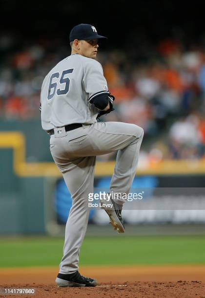 James Paxton of the New York Yankees pitches in the third inning against the Houston Astros at Minute Maid Park on April 10 2019 in Houston Texas