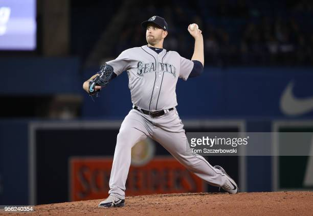 James Paxton of the Seattle Mariners delivers a pitch in the fifth inning during MLB game action against the Toronto Blue Jays at Rogers Centre on...
