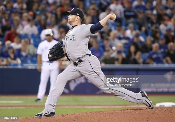 James Paxton of the Seattle Mariners delivers a pitch in the first inning during MLB game action against the Toronto Blue Jays at Rogers Centre on...