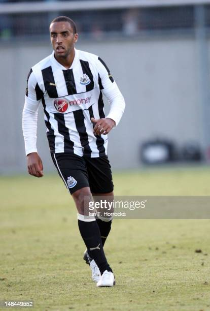 James Perch of Newcastle United during a pre season friendly match between Newcastle United and AS Monaco at the HackerPschorr Sports Park on July 16...