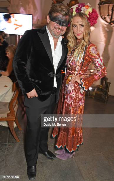 James Perkins and Sophie Taylor attend Unicef's Halloween at Aynhoe Park on October 27 2017 in Banbury England Unicef's Halloween at Aynhoe is...