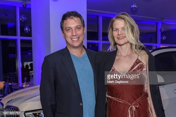 James Peyton and Annika Smith attend Manhattan Magazine Men's Event with John David Washington at BMW of Manhattan on October 11 2018 in New York City