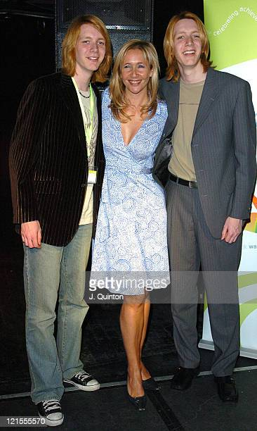 James Phelps Tania Bryer and Oliver Phelps during The Wavemaker Awards 2005 at Sound in London Great Britain