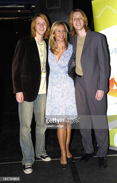 James Phelps Tania Bryer and Oliver Phelps during The Wavemaker Awards Photocall in London Great Britain