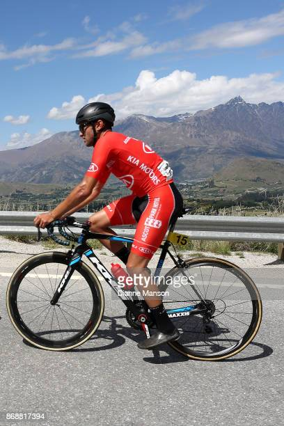 James Piccoli of Canada Kia Motors Ascot Park Hotel makes the climb to Coronet Peak during stage 3 from Mossburn to Coronet Peak during the 2017 Tour...