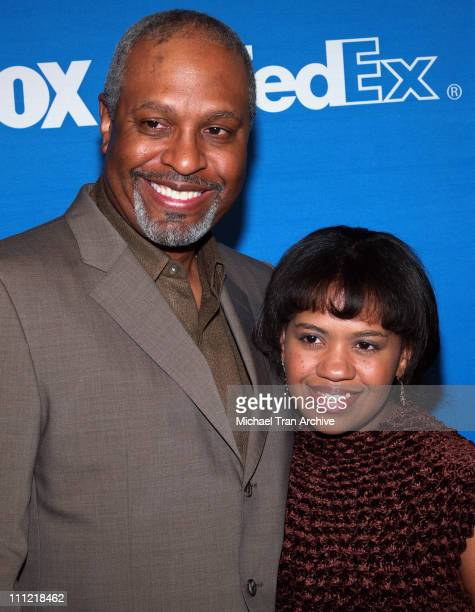 James Pickens Jr and Chandra Wilson during The 37th Annual NAACP Image Awards Nominee Luncheon Arrivals at Beverly Hilton Hotel in Beverly Hills...